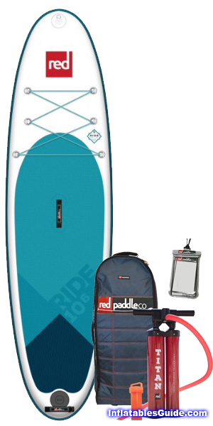 Red Paddle Co. 2018 Red RIDE Inflatable Stand Up Paddleboard 10'6 SUP package