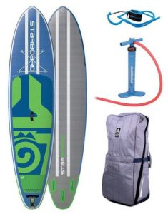 Starboard Atlas Zen 12' inflatable standup paddleboard package