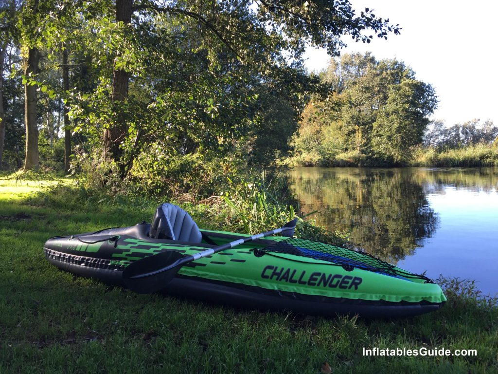 Intex Challenger K1 inflatable kayak package with paddle and pump