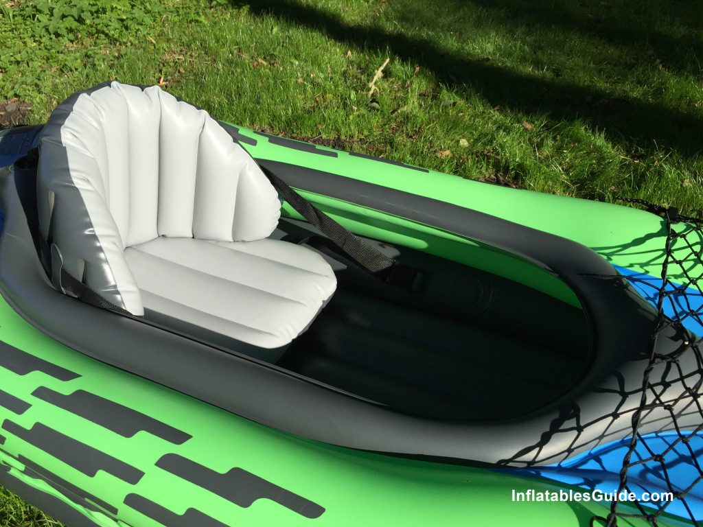 Intex Challenger K1 affordable inflatable kayak with comfortable seat