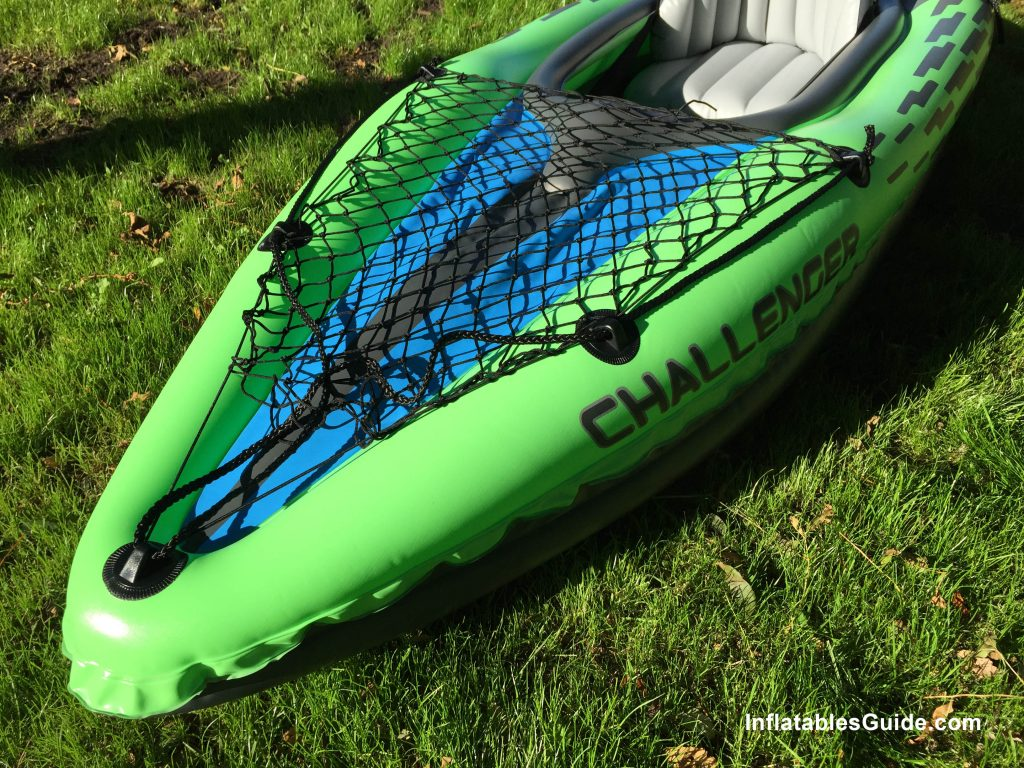 Intex Challenger K1 affordable inflatable kayak with cargo bungee net