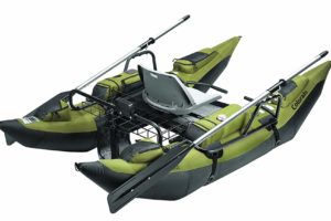 Classic Accessories Colorado Inflatable Pontoon Boat With Motor Mount - rear view