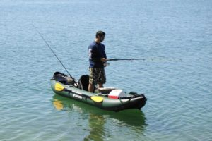 Saturn 13 ft Pro-Angler FK396 Inflatable Fishing Kayak - stable stand up