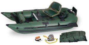 Sea Eagle 285 Inflatable Frameless Fishing Pontoon Boat - Pro Package