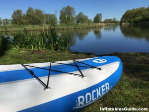 iRocker Cruiser paddleboard - many D-rings for storage and more