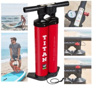 Red Paddle Co. 2018 Red RIDE SUP - great Titan dual action high pressure pump