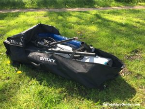 Nixy Newport G2 standup paddleboard - enough space in the backpack for the whole package SUP board paddle pump repair kit