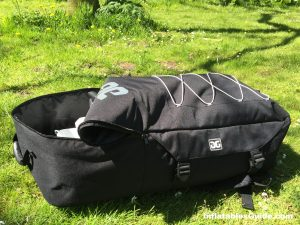 Aquaglide Cascade 11' inflatable paddleboard - large comfortable backpack to pack the SUP board pump paddle and more