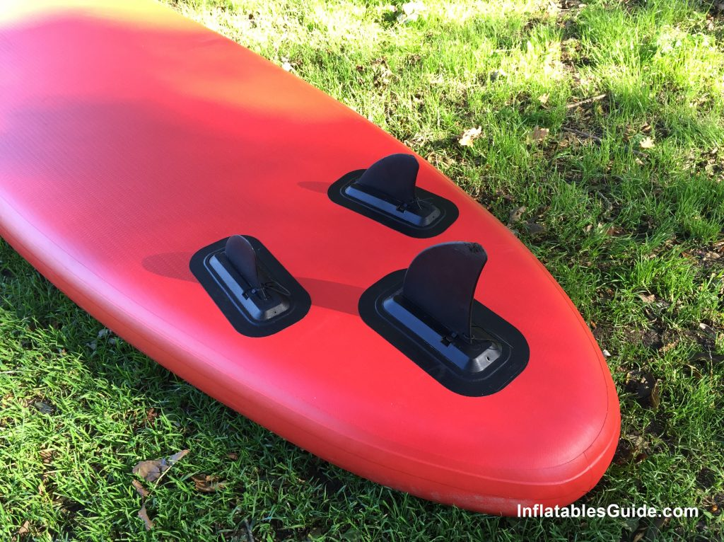 Sroka Malibu 10'6 inflatable SUP - tri fin setup for cruising and all-around paddleboard