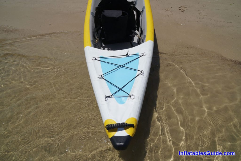 Bay Sports Air Glide 473 inflatable kayak - bungy storage