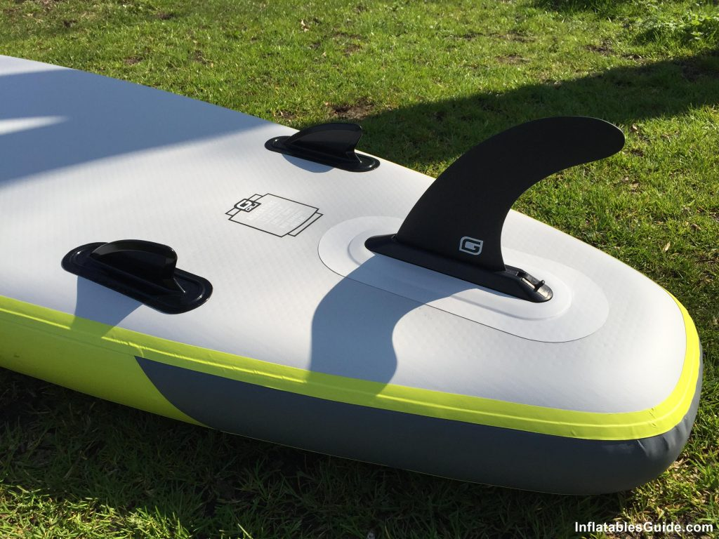 Gili Sports Adventure 11' paddle board - Triple fins setup