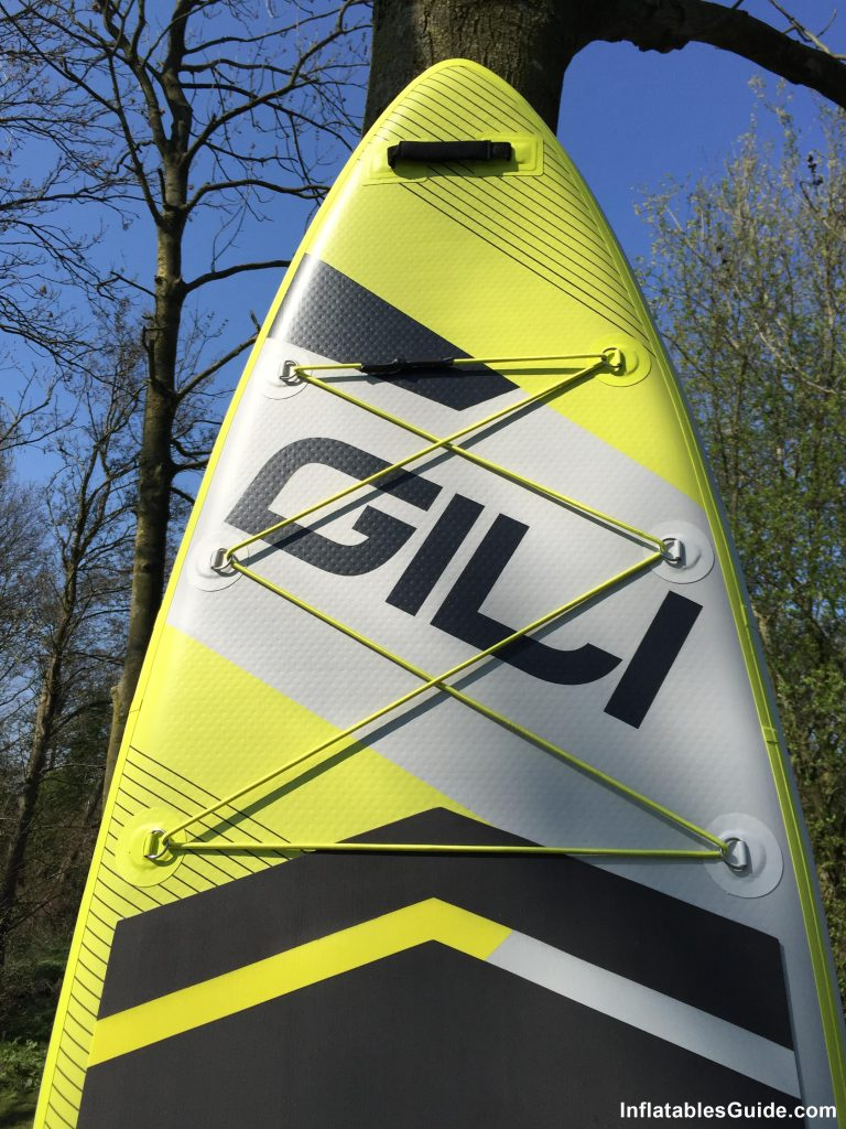 Gili Sports Adventure 11' paddleboard - front cargo bungee