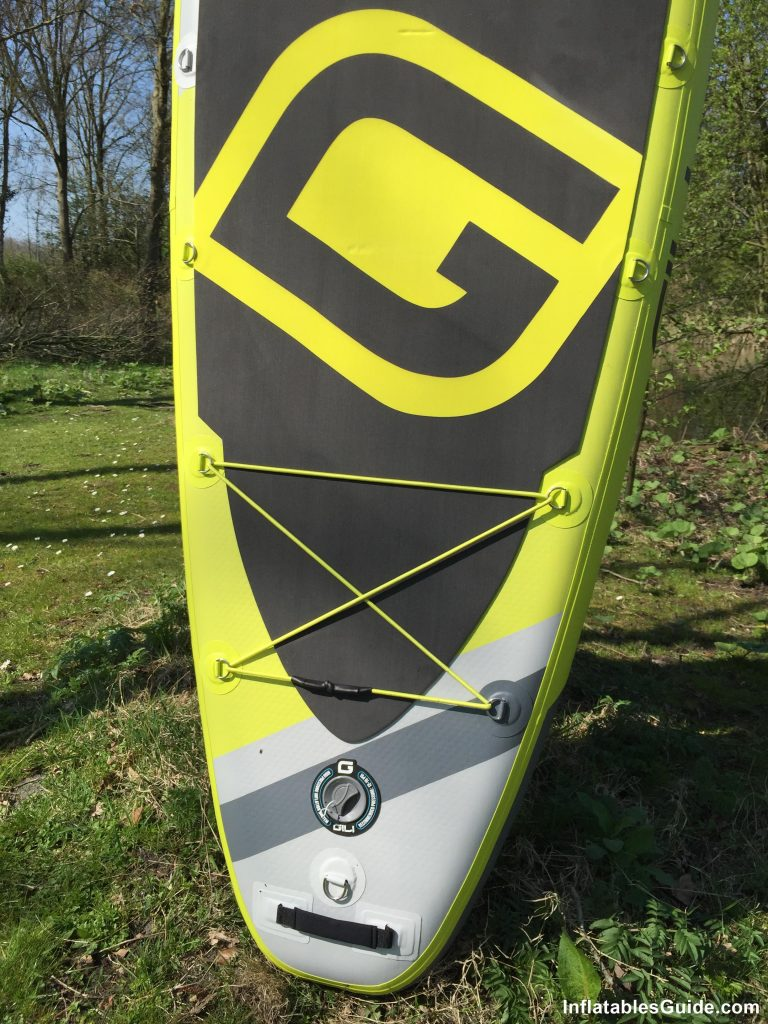 Gili Sports Adventure 11' paddleboard - rear cargo bungee
