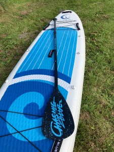 Chasing Blue Aqua Spirit with aluminum paddle